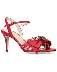 231a0de0589 Gucci Ursula Cage High Heel Sandal in White - Lyst