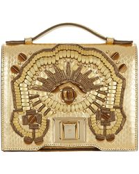 Andrew Gn - Mini Brief Embellished Cross Body Bag - Lyst