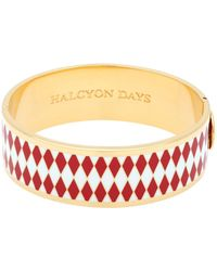 Halcyon Days - Gold And Enamel Parterre Bangle - Lyst