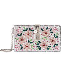 Dolce & Gabbana - Perspex Jewelled Box Clutch - Lyst