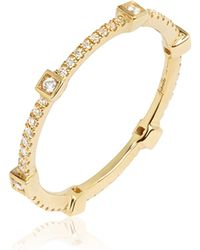 Annoushka - 18ct Yellow Gold And Diamond Eternity Ring - Lyst