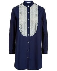 Raphaëlla Riboud - Lace Bib Cotton Night Shirt - Lyst