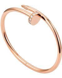 Cartier - Pink Gold Juste Un Clou Pav Diamond Necklace - Lyst