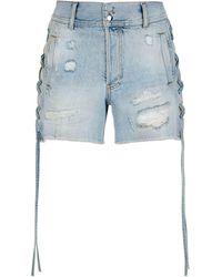 Faith Connexion | Denim Lace Side Shorts | Lyst