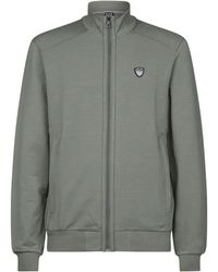Armani - Funnel Neck Zip-front Sweater - Lyst