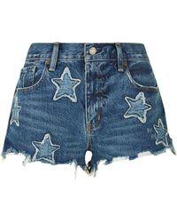 Denim & Supply Ralph Lauren - Star Appliquã© Cut-off Denim Shorts - Lyst