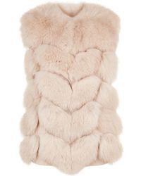 Max & Moi | Lollita Fox Fur Gilet | Lyst
