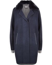 Max & Moi - Luisa Fur Collar Cardi Coat - Lyst