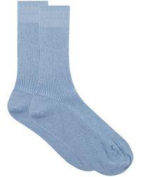 Maria La Rosa - Sparkly Ribbed Socks - Lyst