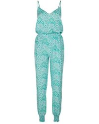 Paloma Blue - Silk Patterned Jumpsuit - Lyst