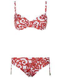 Maryan Mehlhorn - Double Strap Printed Bikini - Lyst