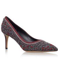 Ferragamo - Fiore Tweed Court Shoes - Lyst