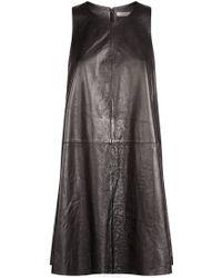 R/R Studio - Leather Tunic Dress - Lyst