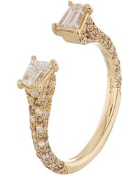 Susan Foster - Yellow Gold Diamond Bullet Ring - Lyst