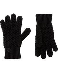 Giorgio Armani - Basket Weave Cashmere Gloves - Lyst