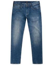 Armani Jeans - Slightly Distressed Jeans - Lyst