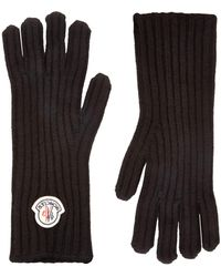Moncler - Cashmere Logo Gloves - Lyst