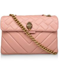 Kurt Geiger - Leather Quilted Kensington X Bag - Lyst