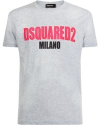 DSquared² - Textured Logo T-shirt - Lyst