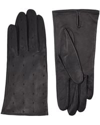 Sandro - Garance Embroidered Leather Gloves - Lyst