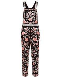 Needle & Thread - Cherry Blossom Dungarees - Lyst