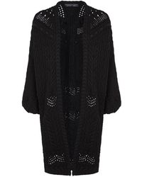 Elie Saab - Cable Knit Wool Cardigan - Lyst