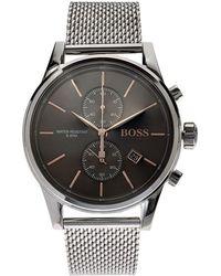 BOSS Black - Jet Mesh Strap Watch - Lyst