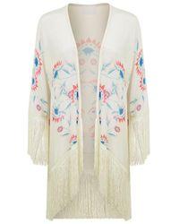 Athena Procopiou - Flower Child Fringed Kimono - Lyst