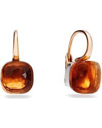 Pomellato - Large Nudo Madeira Quartz Rose Gold Earrings - Lyst