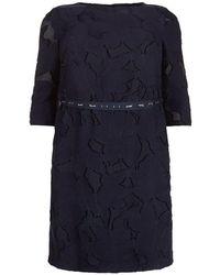 Basler - Belted Floral Dress - Lyst
