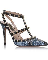 Valentino - Camustar Rockstud Court Shoes 100 - Lyst