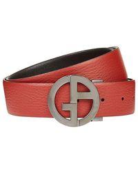 Giorgio Armani - Reversible Logo Belt - Lyst