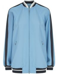 RED Valentino - Embroidered Back Bomber Jacket - Lyst