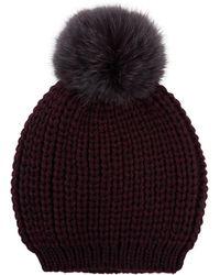 Sandro - Billie Pom Pom Beanie Hat - Lyst