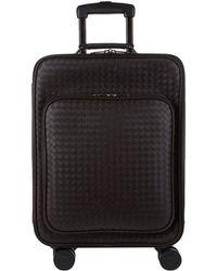 Bottega Veneta - Leather Intrecciato Weave Cabin Trolley (55cm) - Lyst