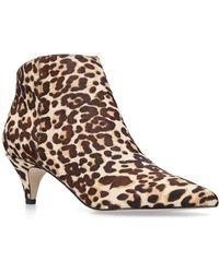 Sam Edelman - Leopard Print Kinzey Ankle Boots 35 - Lyst