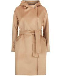 Weekend by Maxmara - Short Wool Hooded Coat - Lyst