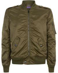 Ralph Lauren Purple Label - Zipped Bomber Jacket - Lyst