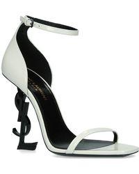 Saint Laurent - Leather Opyum Sandals 110 - Lyst