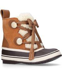 Chloé - Suede Snow Boots - Lyst