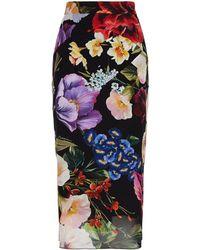 Dolce & Gabbana - Floral Skirt - Lyst
