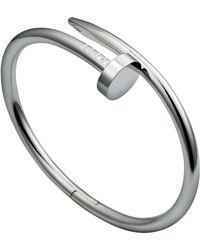 Cartier   White Gold Juste Un Clou Bracelet   Lyst