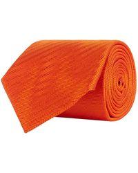 Turnbull & Asser - Diagonal Herringbone Silk Tie - Lyst
