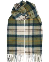 Barbour - Tartan Wool Blend Scarf - Lyst