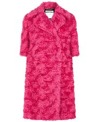 Moschino - Long Fitted Coat - Lyst