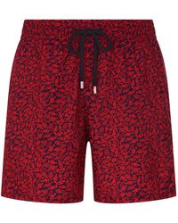 c301783dbb Lyst - Vilebrequin Mahina Madrague Print Packable Swim Trunks, Blue ...