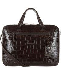 Tumi Marina Alligator Briefcase