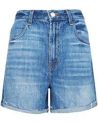 J Brand | Joan High Rise Denim Shorts | Lyst