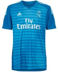 0908a64db10 adidas Real Madrid Cf 2018-2019 Away Goalkeeper T-shirt in Blue for Men -  Lyst