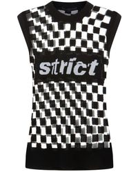 Alexander Wang - Strict Checkerboard Tank Top - Lyst